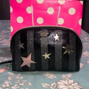 Victoria's Secret Starry Glitter Cosmetic Bag